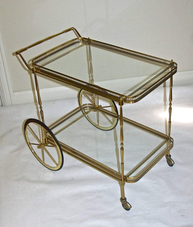 vintage french brass bar cart at 1stdibs. Black Bedroom Furniture Sets. Home Design Ideas
