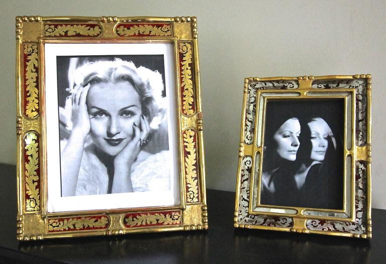 Two Italian Gilt Wood Picture Frames For Sale At 1stdibs