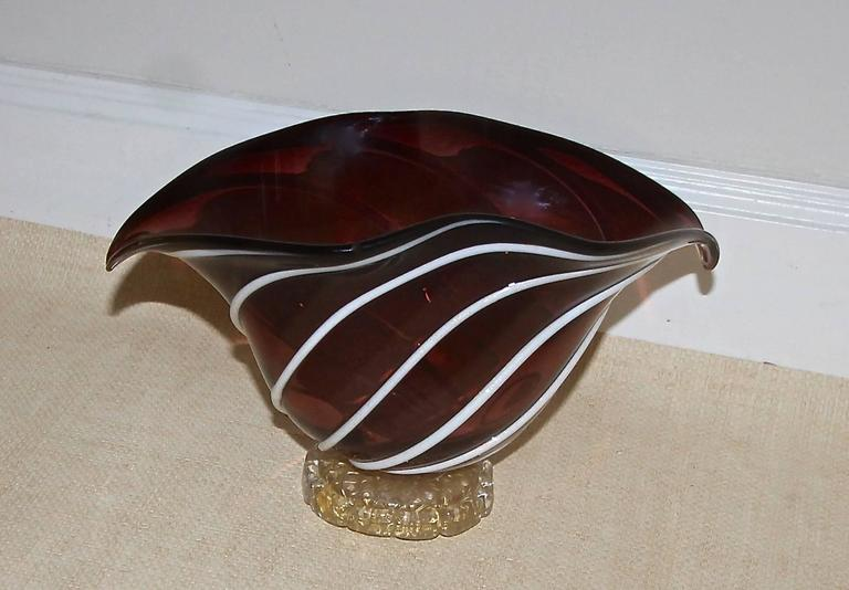 Barovier Murano Glass Centerpiece Bowl For Sale 1