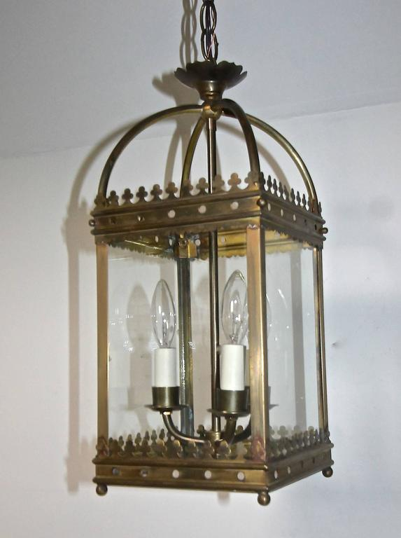 English Gothic Revival Style Hall Lantern Or Pendant For