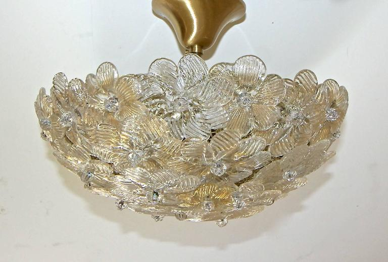 Murano glass floral semi flush mount ceiling pendant light at 1stdibs murano italian floral pendant semi flush mount ceiling light flowers are a mix of handblown aloadofball Image collections