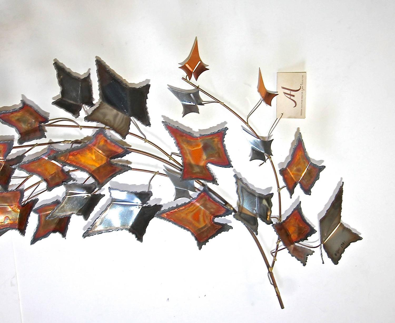 Large Autumn Leaves Metal C Jere Mid-Century Wall