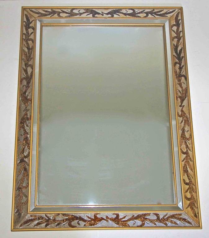 Large eglomise gilt wall mirror for sale at 1stdibs for Huge wall mirrors for sale