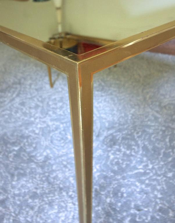 Pair of Brass German Side End Tables For Sale 2