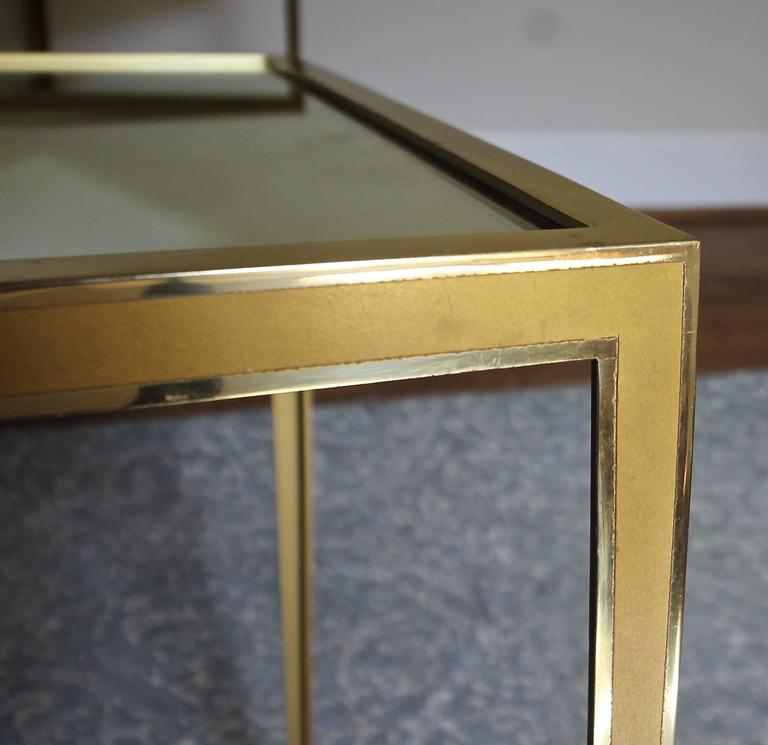 Pair of Brass German Side End Tables For Sale 3