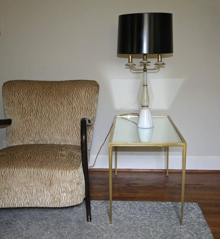 Pair of Brass German Side End Tables In Good Condition For Sale In Palm Springs, CA