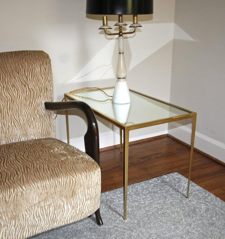 Pair of Brass German Side End Tables For Sale 6