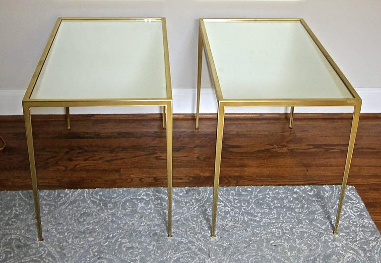 Pair of Brass German Side End Tables For Sale 5