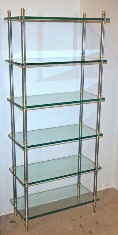Italian maison jansen style brass steel etagere display bookshelf at 1stdibs - Etagere faite maison ...