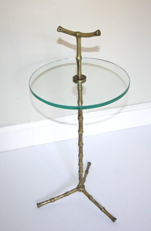 Baguès Faux Bronze Bamboo Side Table For Sale 1