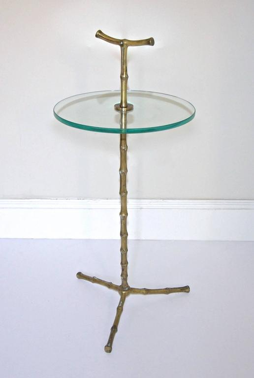 Baguès Faux Bronze Bamboo Side Table For Sale 4