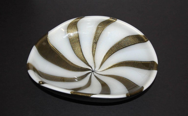 Mid-20th Century Murano Barbini Circus Tent Bowl For Sale
