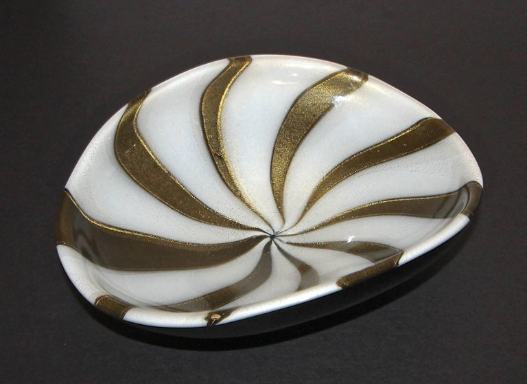 Mid-Century Modern Murano Barbini Circus Tent Bowl For Sale
