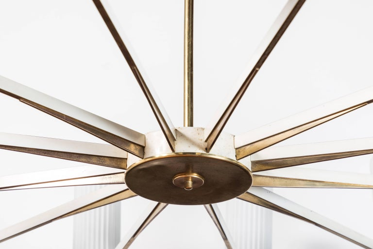 Chandelier Attributed to Stilnovo In Good Condition For Sale In Los Angeles, CA