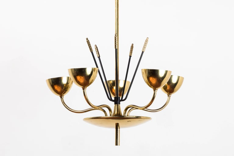 Mid-Century chandelier in the manner of Tommi Parzinger.