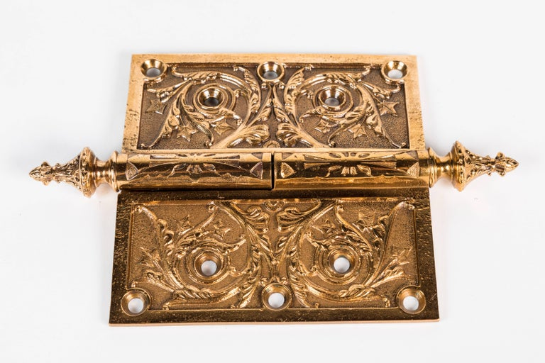 20th Century Two Victorian Cast Brass Hinges For Sale