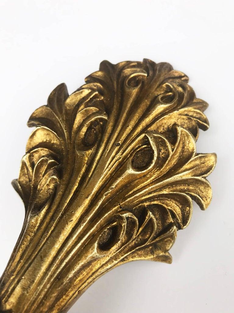 American Cast Brass Curtain Tiebacks For Sale