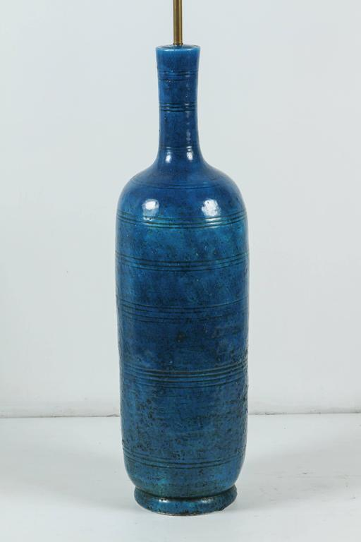 Signed Italian Ceramic Floor or Table Lamp In Excellent Condition For Sale In Los Angeles, CA