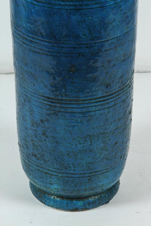 Signed Italian Ceramic Floor or Table Lamp For Sale 1