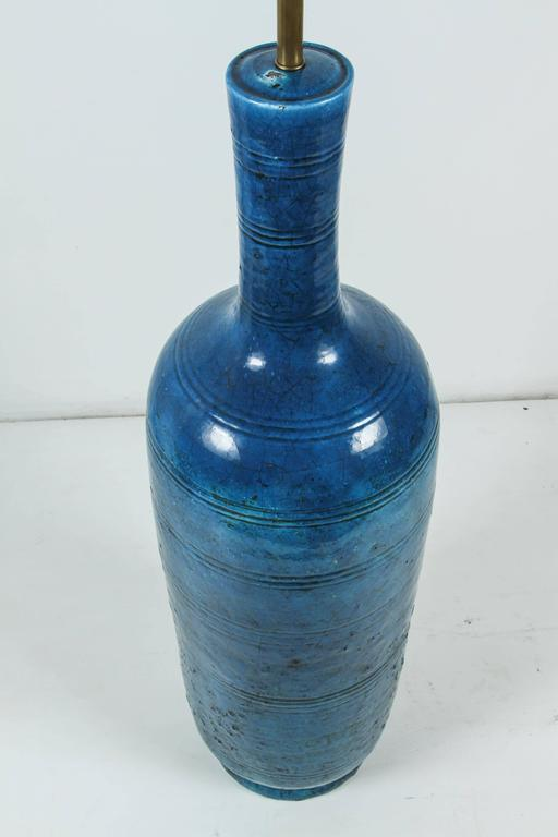 Signed Italian Ceramic Floor or Table Lamp For Sale 4