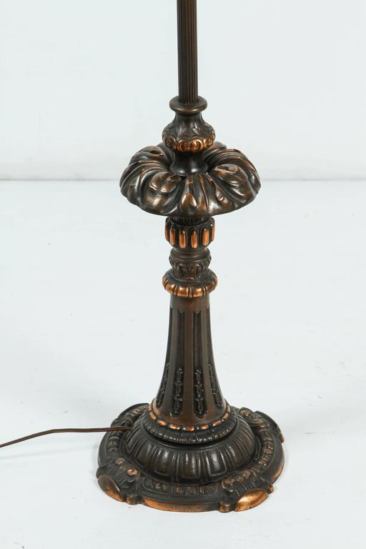 Pair of American Cast Iron and Brass Floor Lamps In Excellent Condition For Sale In Los Angeles, CA
