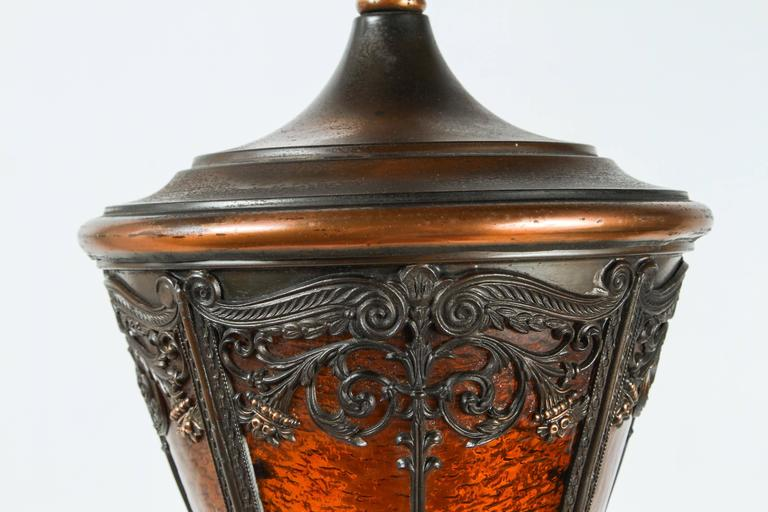 Pair of American Cast Iron and Brass Floor Lamps For Sale 3