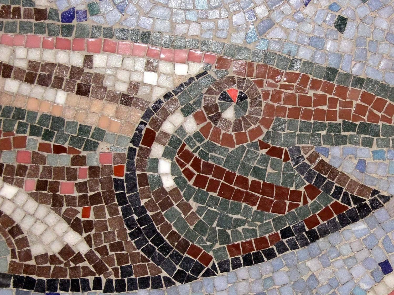 Swordfish S Ballet Glass Mosaic Panel At 1stdibs