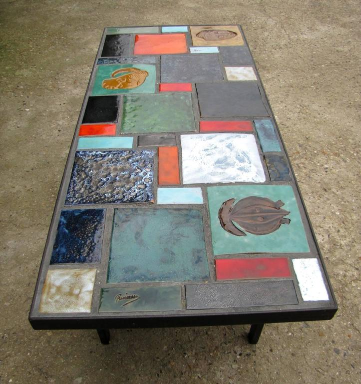 coffee table with africanist decor france 1950 for sale. Black Bedroom Furniture Sets. Home Design Ideas