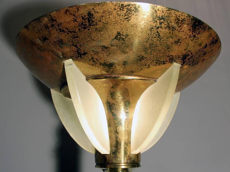 Art deco floor lamp in the taste of genet et michon for Art et decoration france