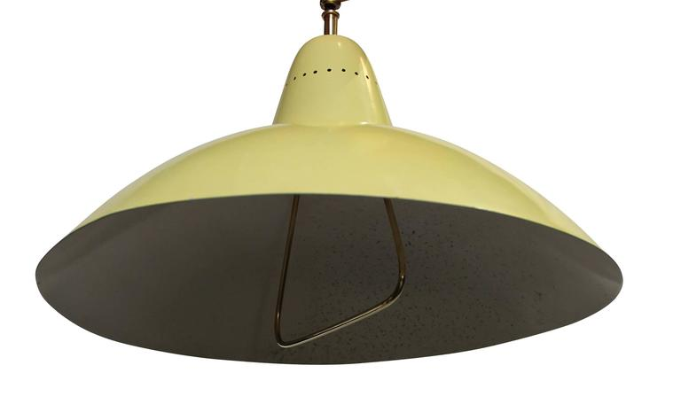 Sliding Hanging Lamp, in the style of Arredoluce, Italy, 1950 In Excellent Condition For Sale In Paris, FR