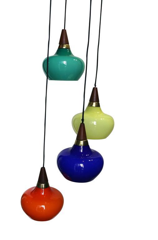 Lacquered 1950s Danish Light Suspension For Sale