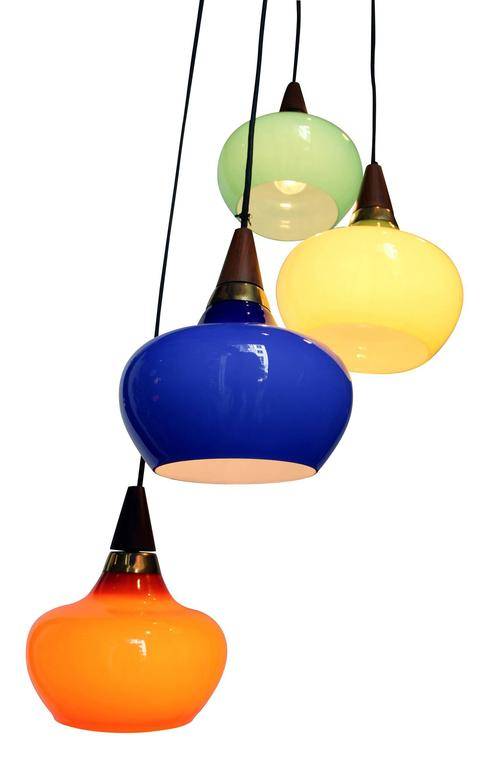 Mid-20th Century 1950s Danish Light Suspension For Sale