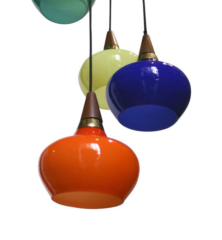 Glass 1950s Danish Light Suspension For Sale