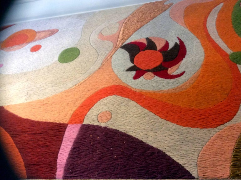 Two Large Tapestries by Erminio Lozzi, 1970s Period For Sale 1