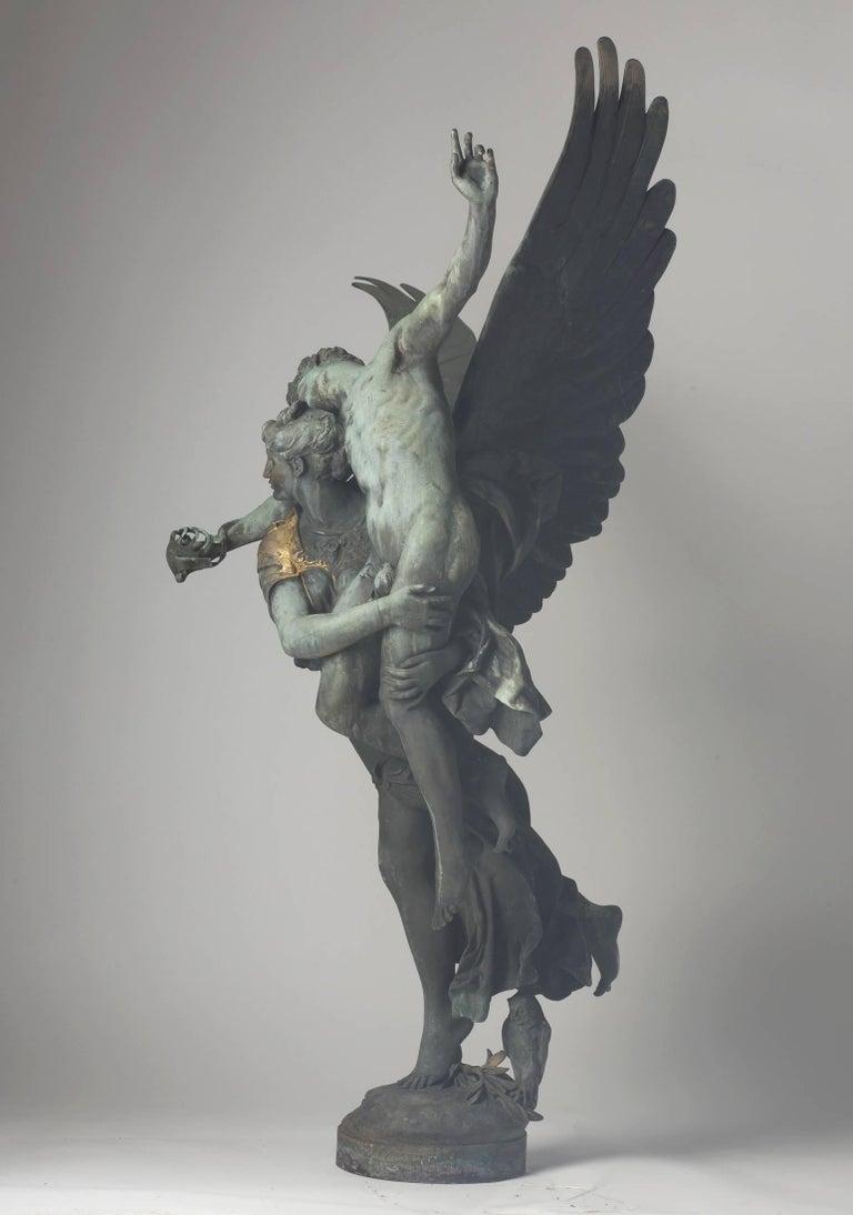 SIGNED GLORIA VICTIS By Mercie Bronze Sculpture Statue