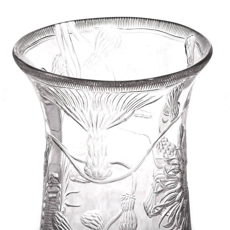 Gorgeous Thomas Webb Monumental Rock Crystal Vase For Sale 1