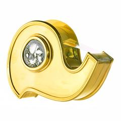 Bulgari Solid 18-karat Gold Tape Dispenser Desk Accessory