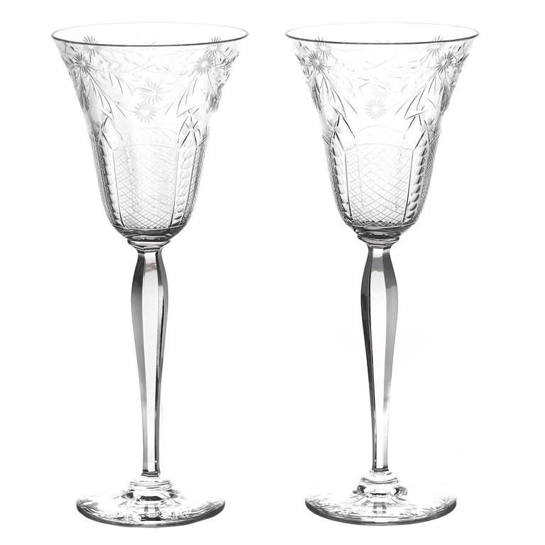 Set of 12 Extra Tall Water Goblets by Kosta Sweden