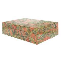 Italian Hardstone 'Rhodonite' Box, circa 1970s