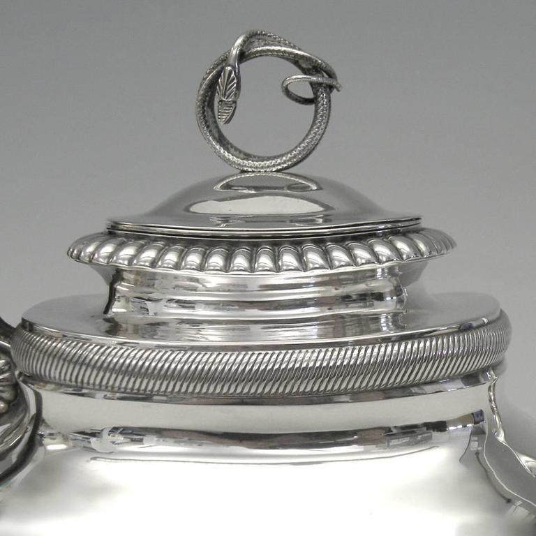 Dutch Gorgeous Sterling Coffee Pot by Albertus Homan Circa 1830s For Sale