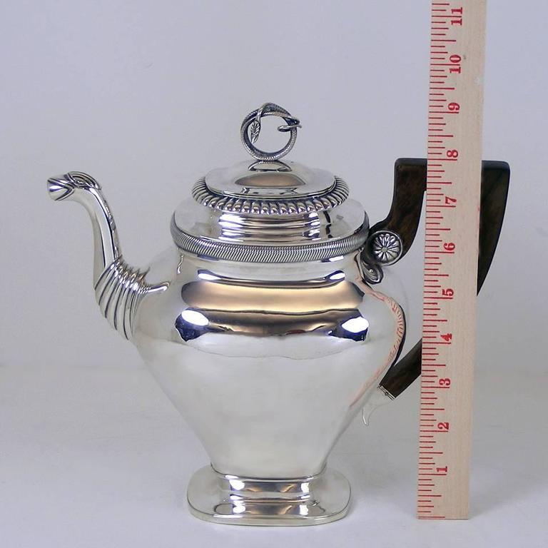 Gorgeous Sterling Coffee Pot by Albertus Homan Circa 1830s For Sale 2
