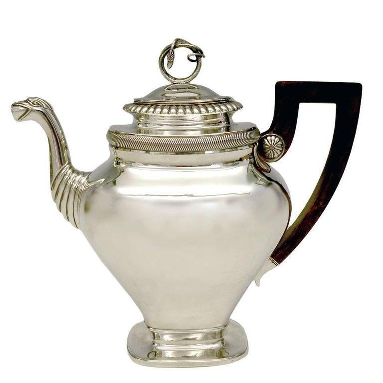 Gorgeous Sterling Coffee Pot by Albertus Homan Circa 1830s For Sale