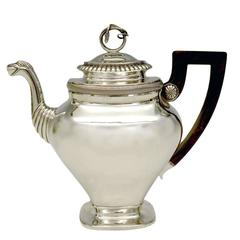 Gorgeous Sterling Coffee Pot by Albertus Homan Circa 1830s