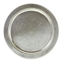 Chic Tiffany & Co. Sterling Round Tray in the Moorish Taste