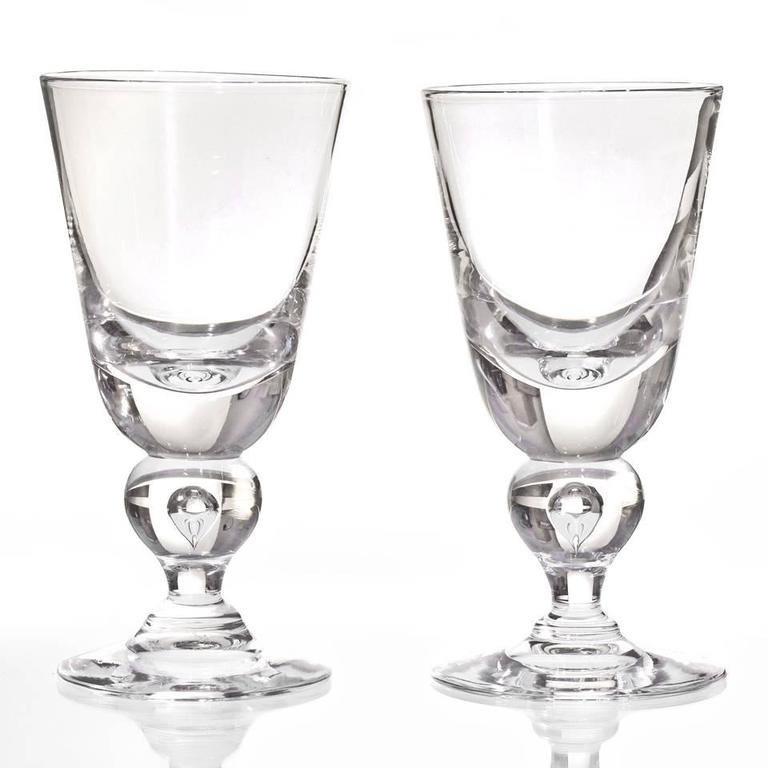 12 Exceptional Steuben Baluster Water Goblets 2