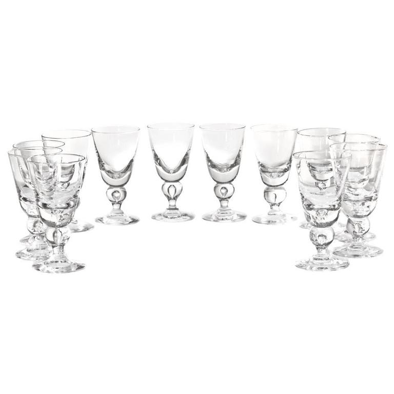 12 Exceptional Steuben Baluster Water Goblets 3