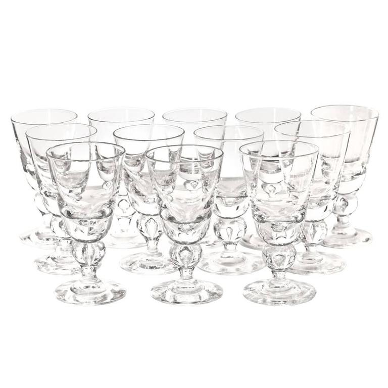 12 Exceptional Steuben Baluster Water Goblets 8