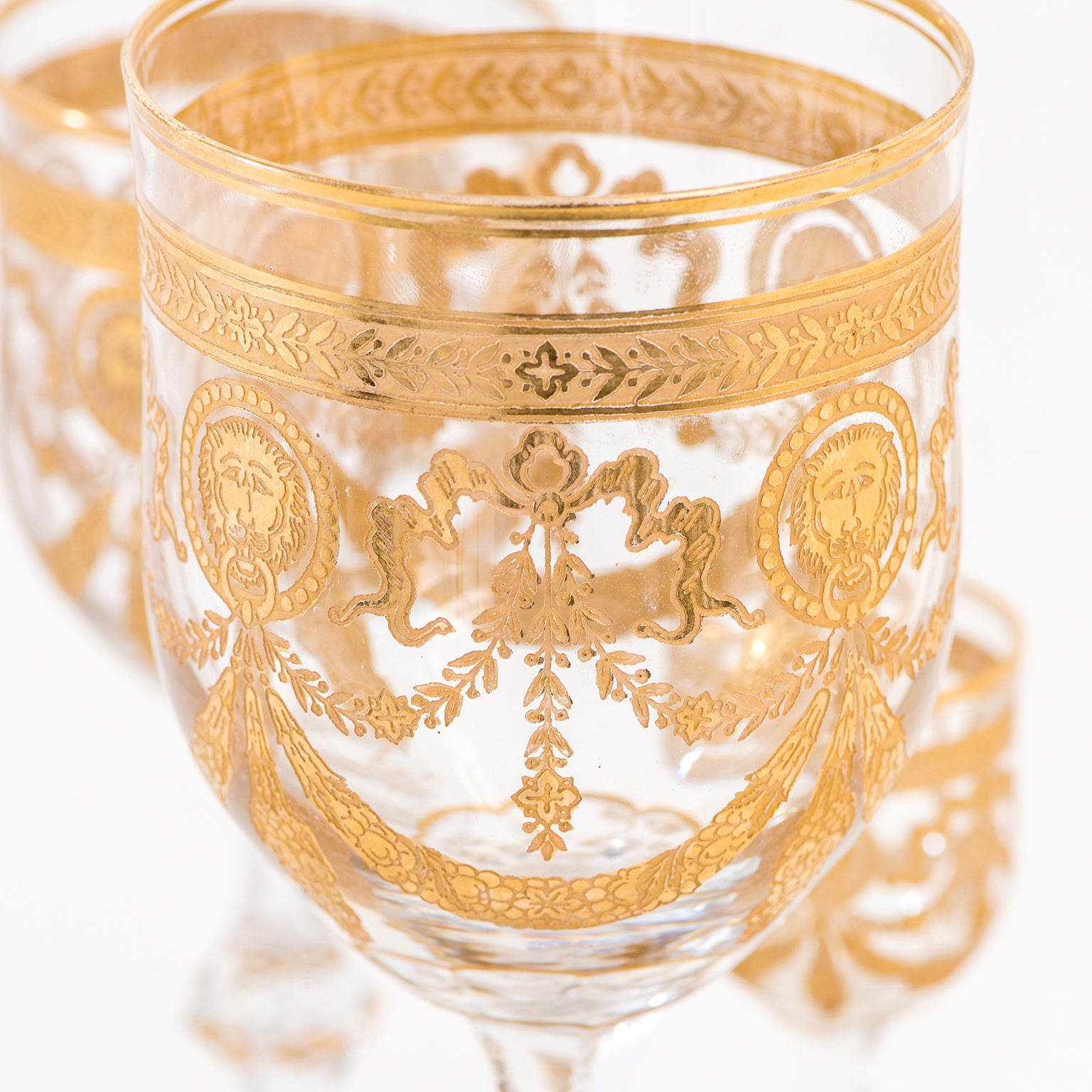 Set of 36 St. Louis Congress Pattern Goblets For Sale at 1stdibs