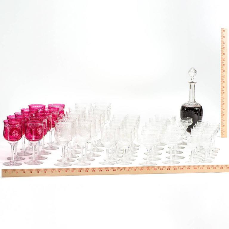 57-Piece Set of Baccarat Crystal Stemware For Sale 4