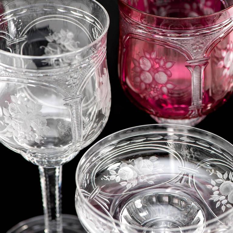 57-Piece Set of Baccarat Crystal Stemware For Sale 3
